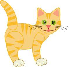 cute cat drawings | Free Cute Yellow Cat Clip Art Cat Clipart, Cat Pattern,