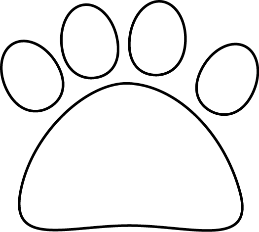 Black and White Black and Whi - Cat Paw Clipart