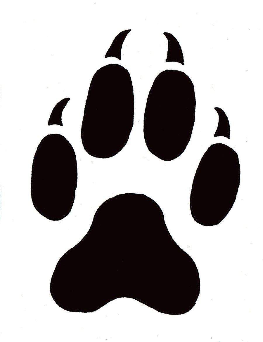 Cat paw clipart: Cat paw prints clip art
