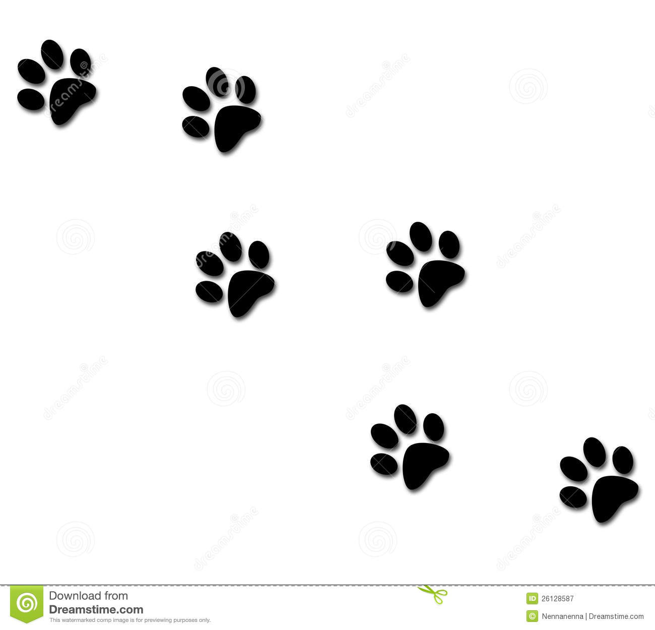 Free Clip Art Of Cat Paw Print