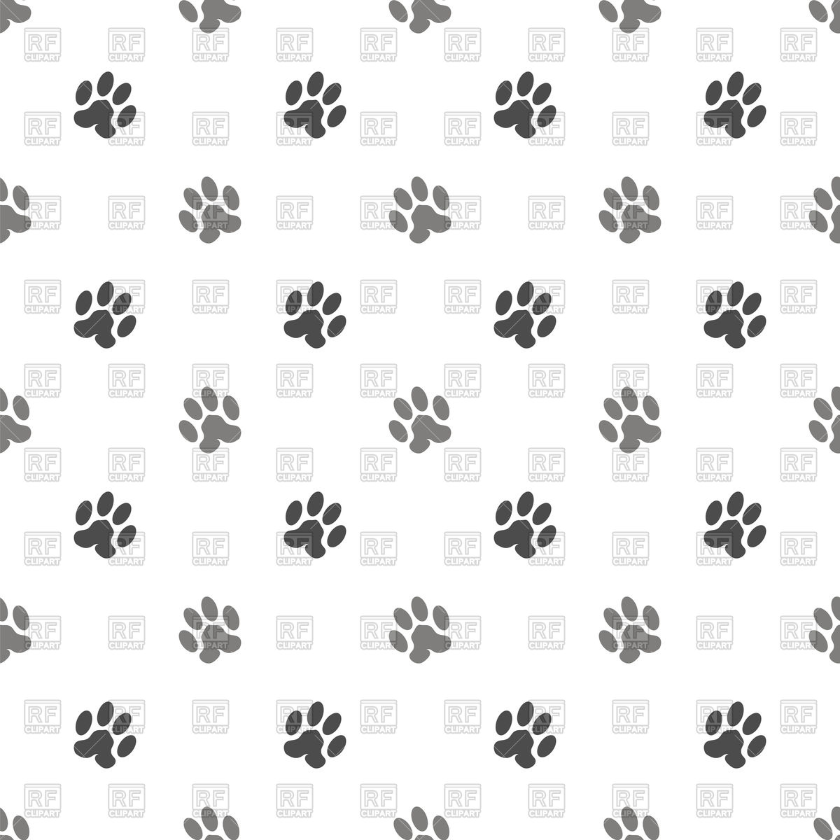 Seamless cat paw background Royalty Free Vector Clip Art