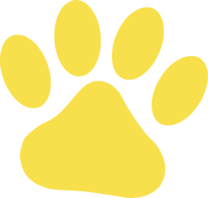 Yellow Cat Paw Clip Art - Cat Paw Clipart