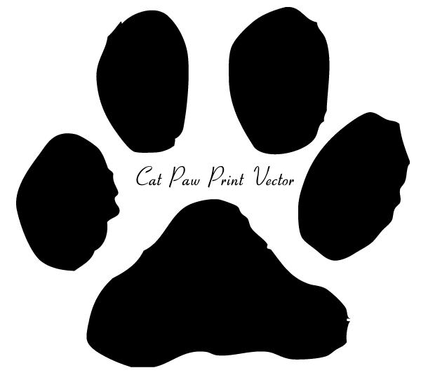 Cat Paw Print Clip Art Image 123freevectors