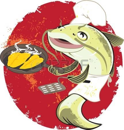 catfish: Catfish Fry Cook Illustration
