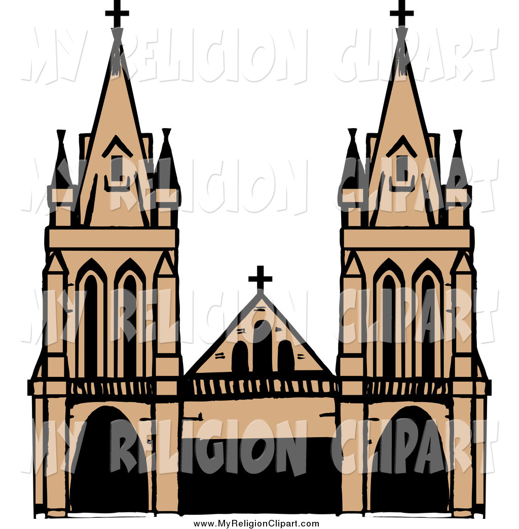 Religion Clip Art of a Cathedral
