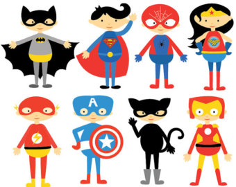 Superhero Comic Characters - Clipart u0026 Vector Set - Instant Catwoman Clipart -  Personal and Commercial Use