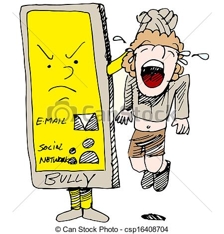... Caught Cyber Bullying - An image of a child caught cyber.