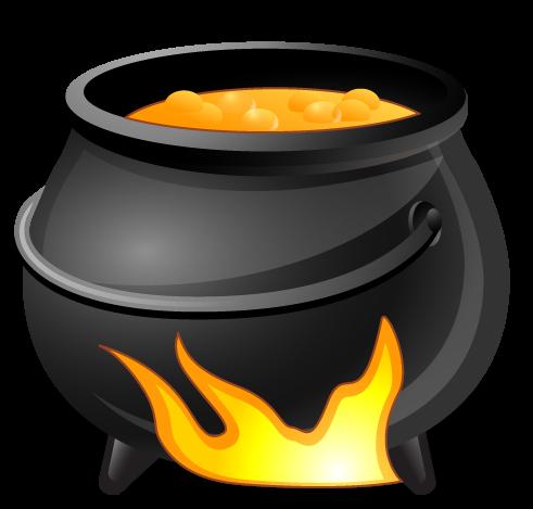 Free Boiling Cauldron Clip Art · cauldron9