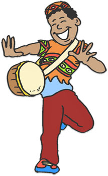 Celebrating Kwanzaa with drums.