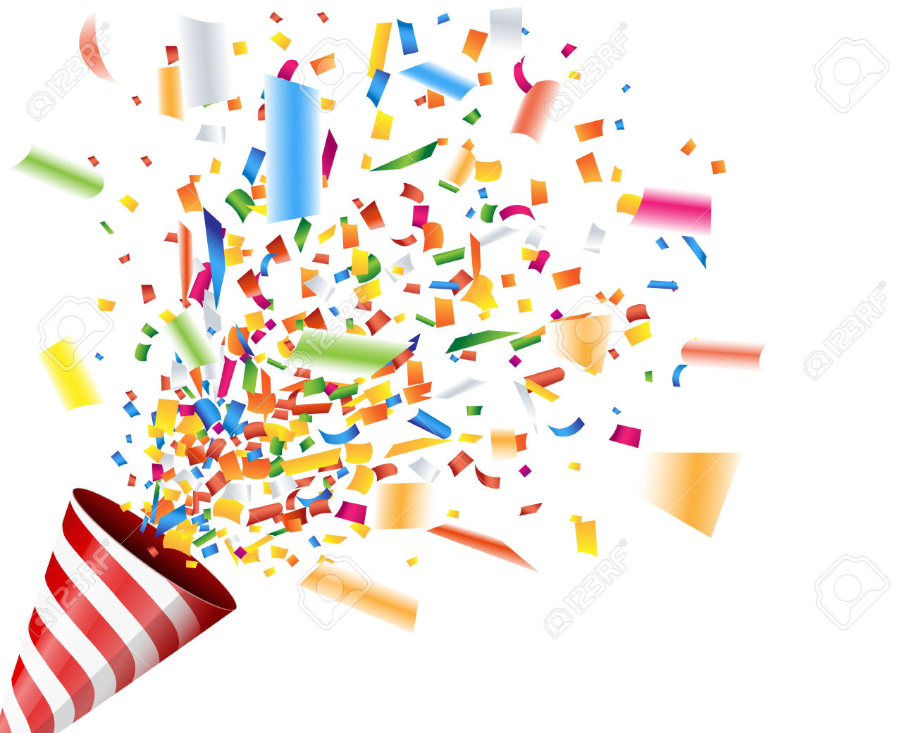 Celebration clipart confetti explosion #8