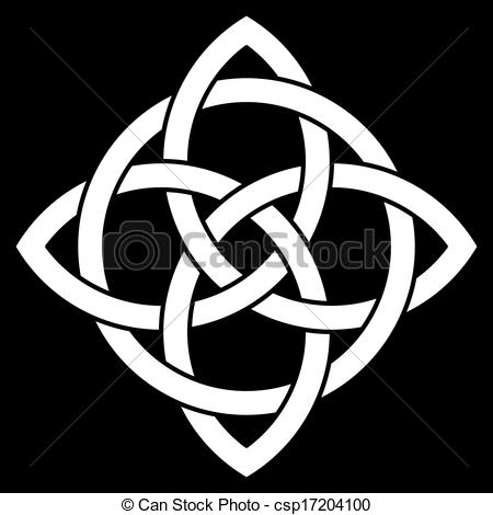 Beautiful 4 Point Celtic Knot Vector