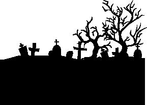 Cemetery Silhouette Silhouette Of Cemetery