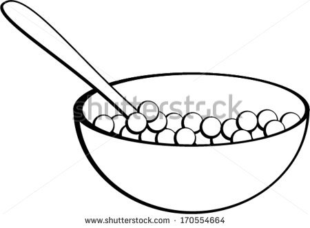 Cereal Bowl Clipart Black And White Empty Cereal Box Clipart