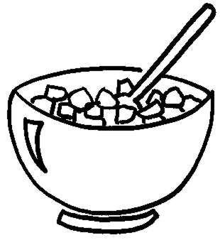 cereal Bowl Colouring Pages (page 3)