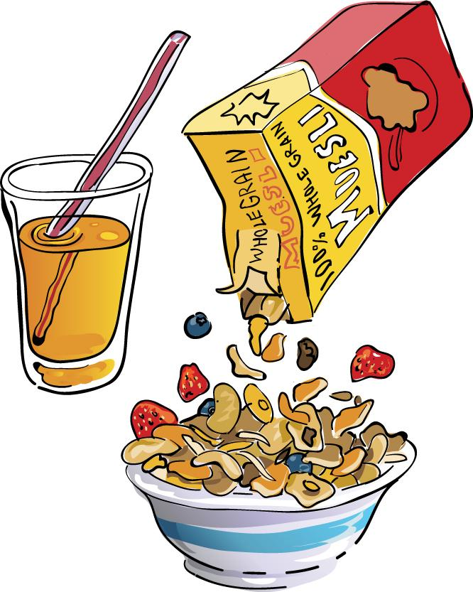 Cereal Cliparts - Free Breakfast Clipart