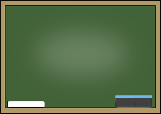 Chalkboard with Chalk and Eraser