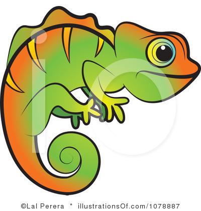 Chameleon Clip Art: Free RF Chameleon Clipart