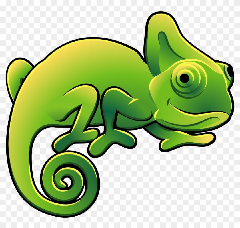 Cute Chameleon Clipart - Cartoon Chameleon #425839