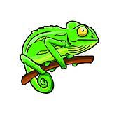 Cute Chameleon Vector Illustration · Chameleon