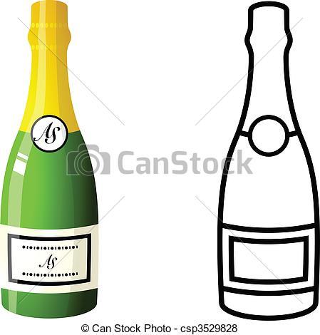 Champagne Bottle - csp3529828