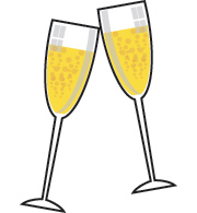Champagne Clipart #1