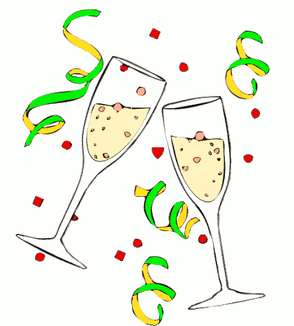 Champagne Glass Clipart #12181