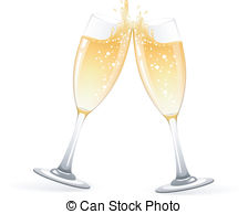 . ClipartLook.com Glasses of champagne - Vector illustration of Two Glasses of.