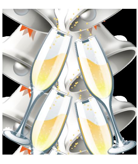 wedding champagne glasses clipart   Wedding Clip Art