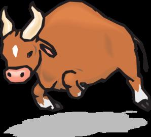 Charging Bull Clip Art