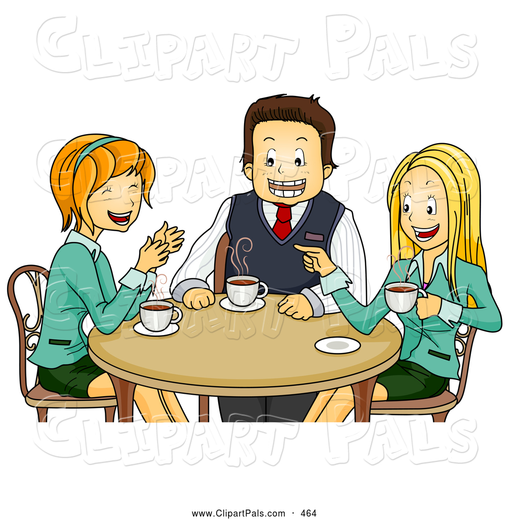 Coffee Chat Clipart #1