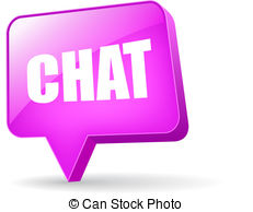 . ClipartLook.com Vector chat bubble isolated on white