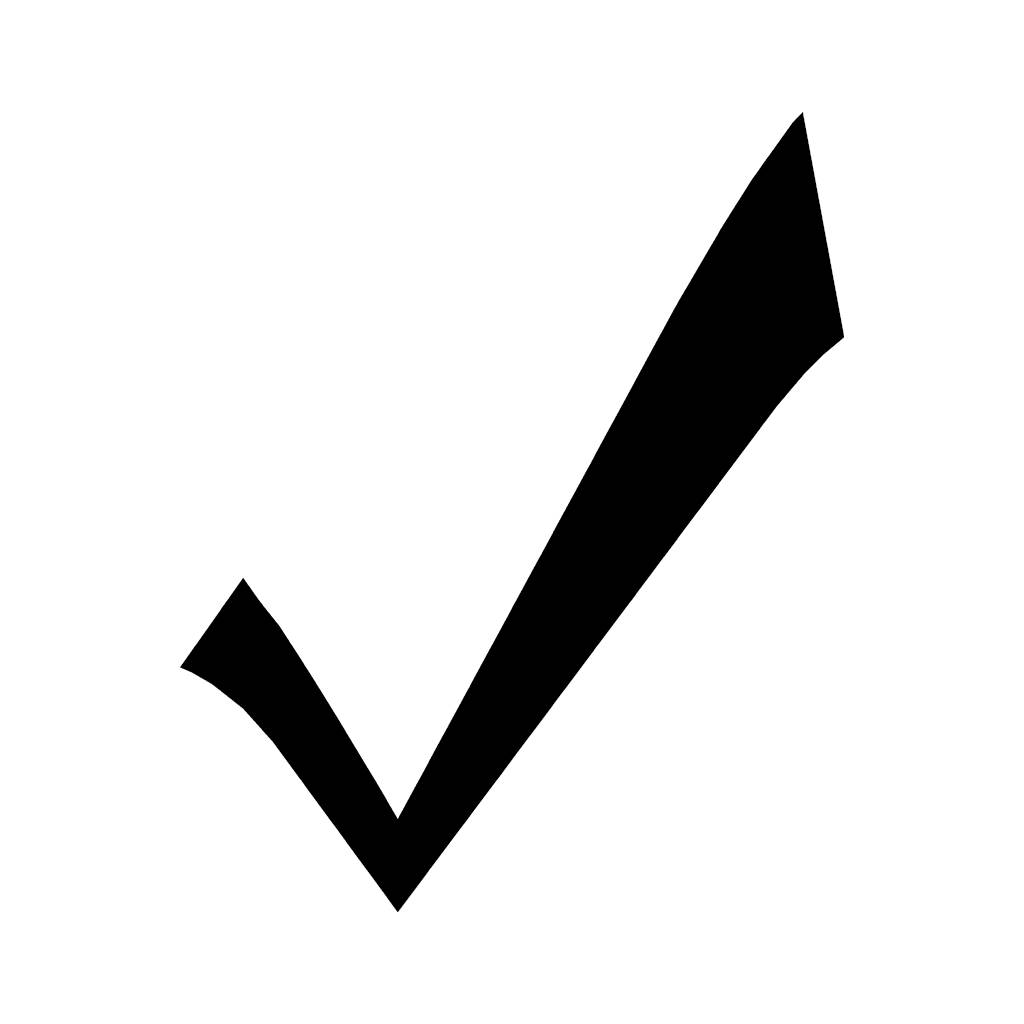 Right clipart check mark #4