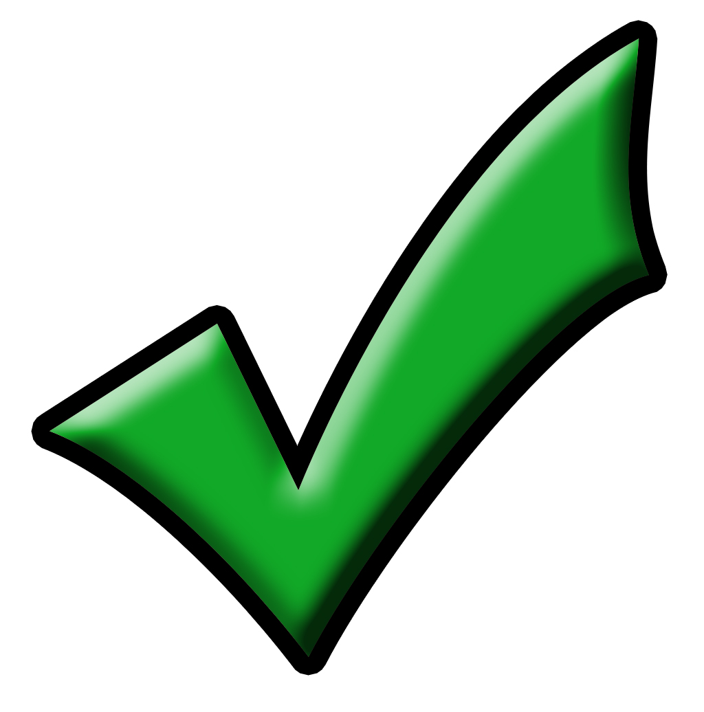 Check mark clipart symbol .