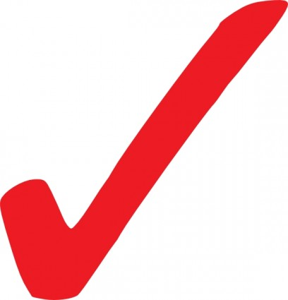 Check mark simple red checkmark clip art free vector in open office drawing