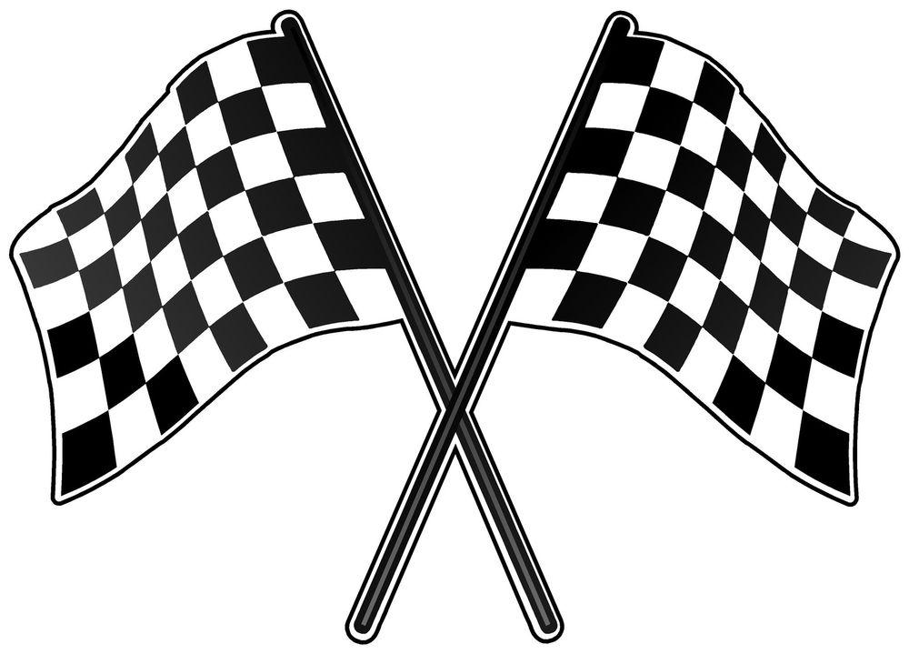 Checkered flag race flag clip art