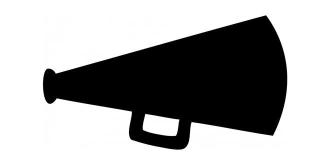 Cheer Megaphone Clipart - JPEG Image #8787