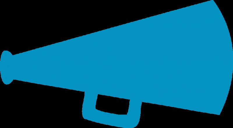 Cheerleader Megaphone Clipart
