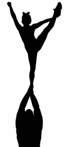 Cheerleader clip art on cheerleading stick figures and cheer 2