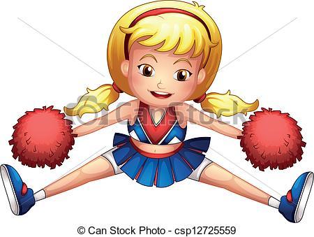 An energetic cheerleader - csp12725559