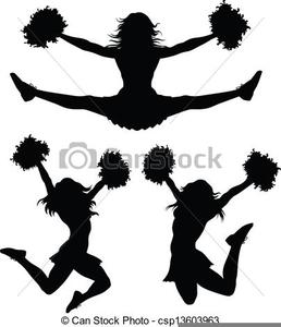 Cheerleader Clipart Vector Image