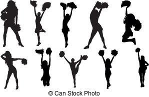 Cheerleader silhouette set Clip Artby Vector2Go22/1,261 Cheerleaders