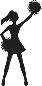 Cheerleader Clipart Image Silhouette Of A Cheerleader