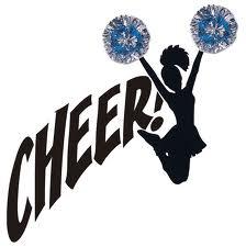 Cheerleading cheer black white clipart