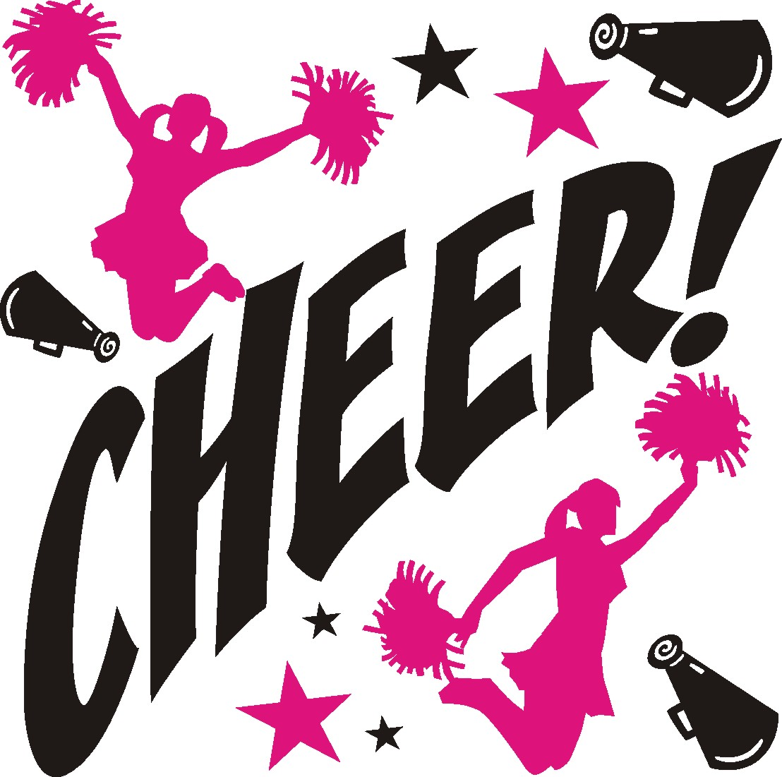 Cheerleading cheer quotes clipart