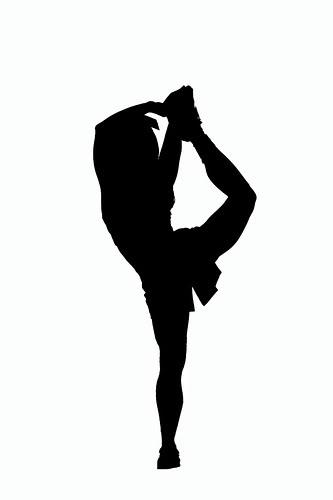 Cheerleading silhouette clip art clipart