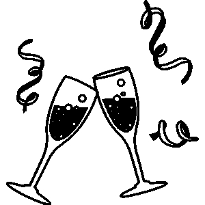 Clip Arts Related To : New year cheers clipart
