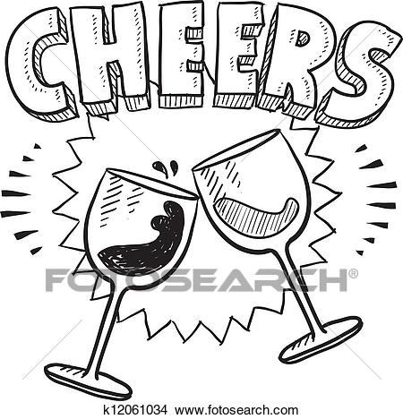 Clipart - Cheers celebration  - Cheers Clipart