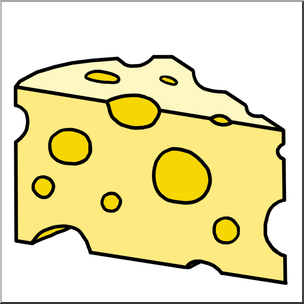 Clip Art: Swiss Cheese Color  - Cheese Clipart