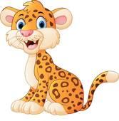 Cute cheetah cartoon with blank sig; Cute cheetah cartoon
