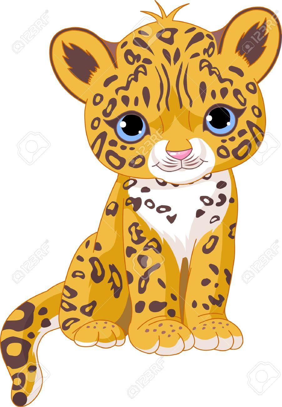 Cute Cheetah Clipart #1
